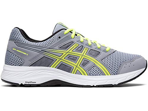 ASICS Men's Gel-Contend 5 Running Shoes, 9M, Sheet Rock/Safety Yellow