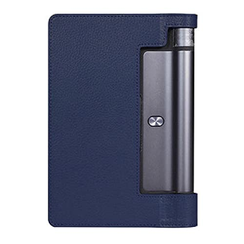 Funda de Cuero magnética PU para la pestaña Lenovo 3 8.0 850F 850M 850L TAB3-850 Funda Protectora Ultra Delgada para la pestaña de Yoga 3 yt3-850f-Azul Oscuro