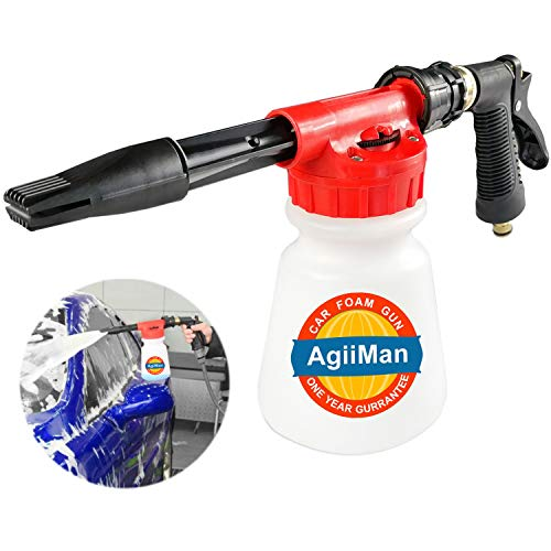 AgiiMan Car Wash Foam Gun - Foam Cannon, Garden Hose Sprayer with Adjustment Ratio Dial Blaster,...