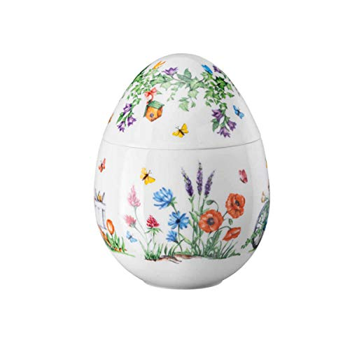 Hutschenreuther Porzellan Ei, Bunt, Ø 13,9 / Höhe cm 18,3