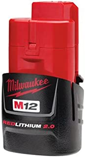 Milwaukee 48-11-2420 M12 REDLITHIUM 2.0 Compact Battery Pack (1-Pack)