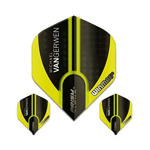 Winmau Prism Alpha Pro Player Michael Van Gerwen Dart Flights, MvG Green 144, 100 Micron Extra Strong (3 Sets - 9 Flights)
