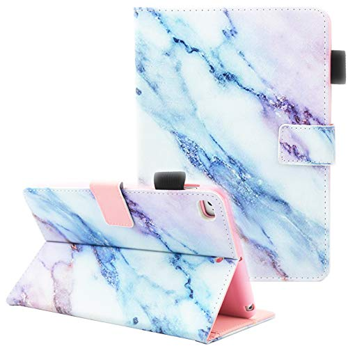 Fvimi iPad Mini Case, iPad Mini 2 Case, iPad Mini 3 Case, iPad Mini 4 Case, Multi-Angle Viewing Folio Smart Leather Cover with Auto Sleep/Wake Function for Apple iPad Mini 1/2/3/4, Marble