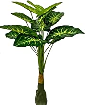BK Mart Areca Palm Tree Long 12 Leaves Artificial Plant Without Pot (90 cm, Green, Yellow)