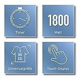 CLEANmaxx automatischer Hemdenbügler mit Dampffunktion Version 2019 | Bügler für Hemden & Blusen, Bügelautomat | Bügelpuppe mit zwei Bügelprogrammen [1800 Watt/weiß] - 7