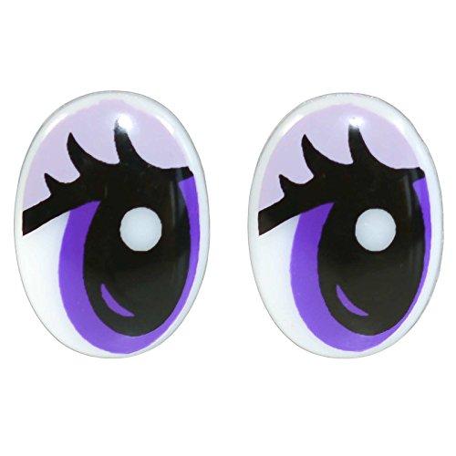 10 Paar Sicherheits-Augen 12x17mm Sicherheitsaugen Puppen Kuscheltiere Teddies
