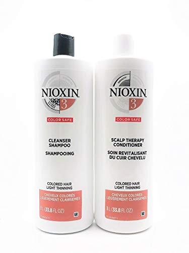 Nioxin System 3 Tiefenreinigungsshampoo & Conditioner, jeweils 1.000ml