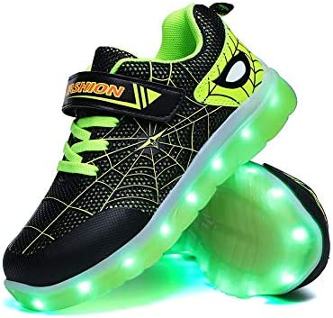YUNICUS Boys Shoes LED Light Up Shoes Kids Girls Boys Breathable Flashing Sneakers Toddler 10M product image