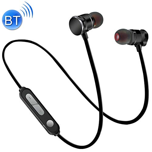 Dmtrab para X3 Absorción Magnética Deportes Bluetooth 5.0 Auriculares en la Oreja con micrófono HD, Soporte Llamadas de Manos Libres, Distancia: 10m, para iPad, computadora portátil, iPhone, Samsung,
