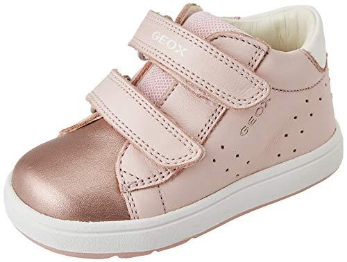 Geox B BIGLIA Girl C First Walker Shoe, LT Rose/White, 22 EU