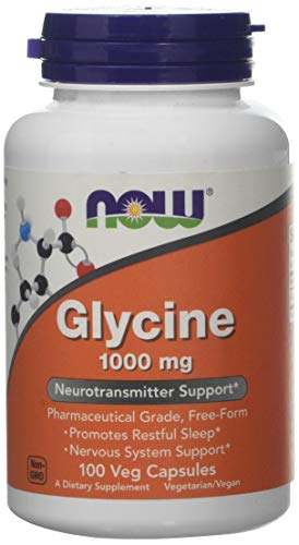 Now Foods Glycine Capsules, 1000 mg, 100-Count