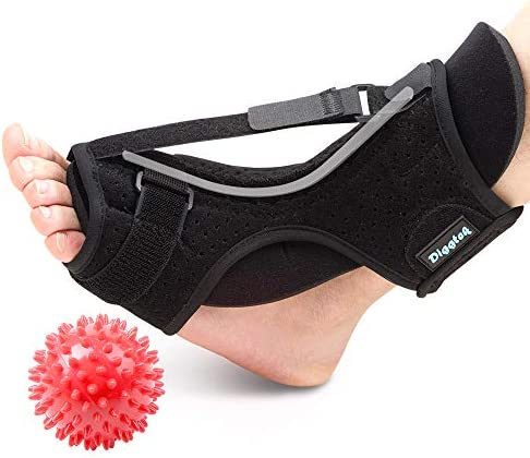 Plantar Fasciitis Night Splint Diggtek Foot Drop Orthotic Brace Adjustable Elastic Night Splint product image
