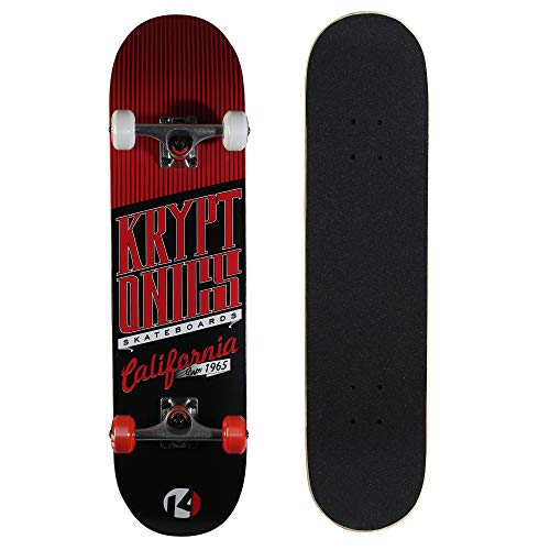 Kryptonics Star Series 31 Inch Complete Skateboard - Cali-Red