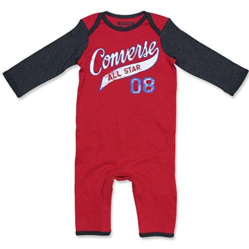 Converse grenouillère pyjama pour garçon rouge