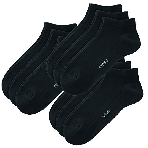 Camano Socken CA-SOFT Sneaker 9er Pack, Größe:43-46, Farbe:Black (0005)