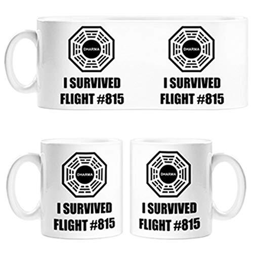 Diver Tazas Taza ilustración Frase I Survived Flight 815 Dharma...