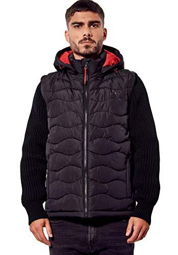 Kaporal - Doudoune régular Homme avec Manches Amovibles - Bazar - Homme - XL - Noir