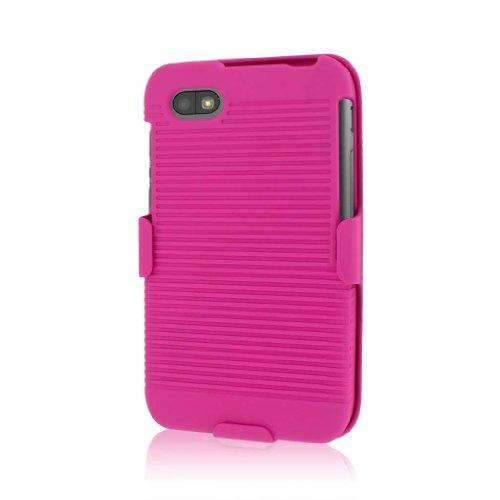 MPERO Sammlung 3 in 1 Tough Hot Pink Rosa Kickstand Hülle Tasche Hülle for BlackBerry Q5