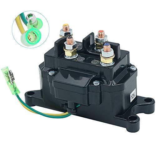ATV Winch Solenoid 12V Solenoid Relay Contactor Winch Switch for Warn # 2875714/63070 / 62135/74900, ATV UTV Winch Contactor Solenoid