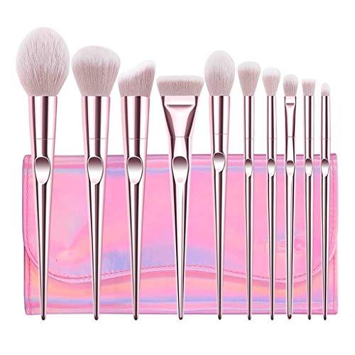 HU Pinceaux de Maquillage Set Ombre à paupières avancée Lèvres lèvres Blush Foundation Pinceau Maquilleur Professionnel Convient Exquise Femme