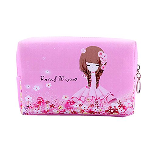 Populaire Flower Girls style Cosmetic Containers Cosmetic PU Sacs