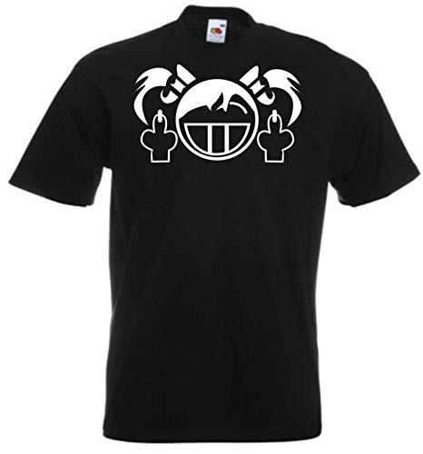JINTORA Camiseta T-Shirt - Hombre Negro - Talla S - follar Chica - JDM/Die Cut - para Fiesta Carnaval Carnaval Laboral Deportes