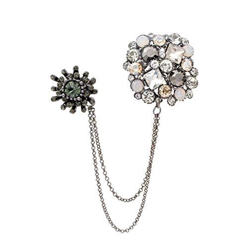 QPODGQ Broche Diamantes De Imitación Grandes Broches De Pin De Estilo Cuadrado...