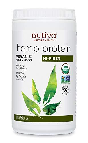 Nutiva Organic Hemp Protein Hi Fiber, 16 Ounce