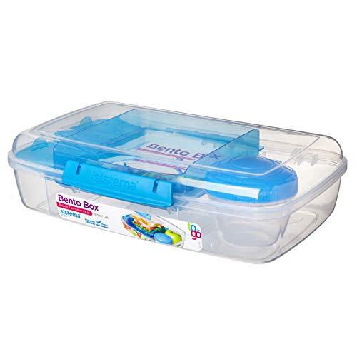 Sistema Bento Box To Go mit Fruit/Joghurt Topf, mehrfarbig, Riegel Liter ( Farblich sortiert )