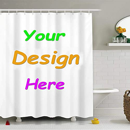 """MOUMOUHOME Personalized Photo Custom Shower Curtain Set with 12 Hooks Add Your Own Designs or Logo Picture Shower Curtains Waterproof Curtain Shower Set 3D Printed Bathroom Accessories 65""""x71""""(WxH)"""