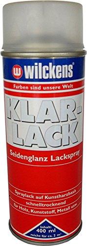 2 x Wilckens Klarlack Lackspray auf kunstharzbasis Seidenglanz bis hochglanz Farblos 800 ml, Glanzgrad:seidenglänzend