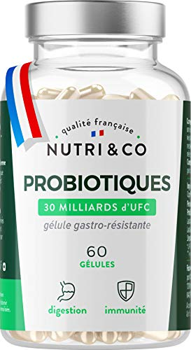 Probiotiques Flore Intestinale | 30 à 60 Milliards d'UFC par Dose (2 à 4/j) | Souches...