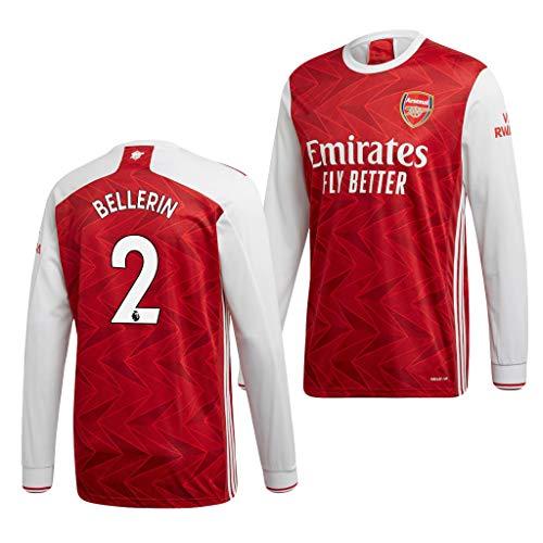L-Shop Héctor Bellerín Arsenal Rot,Maillot Héctor Bellerín Trikot 2020/21 für Herren & Jungen(Rot,16)