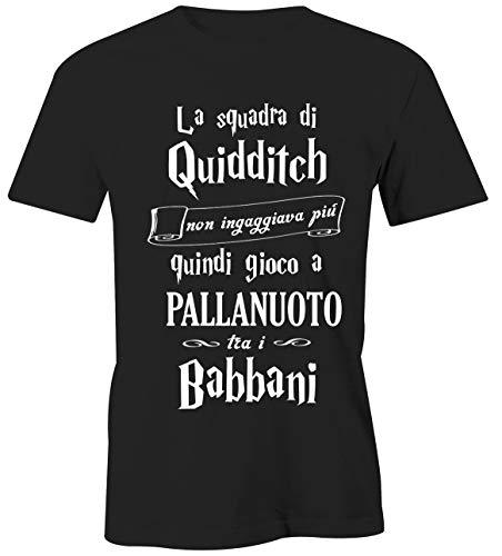 T-Shirt Harry Potter Pallanuoto - Gioco tra i babbani- Quidditch - Hogwarts - Grifondoro - Serpeverde - Corvonero - Magliette Simpatiche e Divertenti