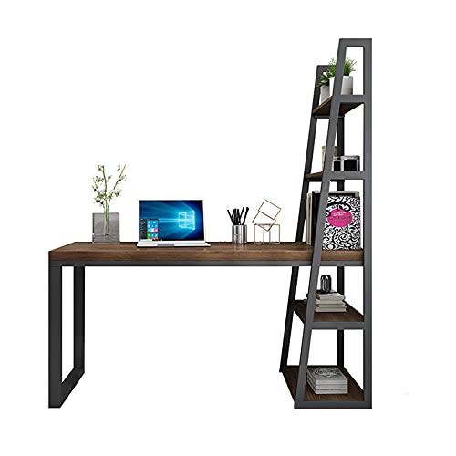 Escritorio Escritorio para el hogar ORDENADOR PERSONAL Escritorio de escritorio de la esquina de la esquina Multifuncional escritorio con estante de almacenamiento lateral Estudio Estudio Estación de
