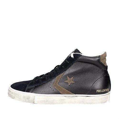 Converse Lifestyle PRO Leather Vulc Distressed Mid, Scarpe da Ginnastica Alte Unisex-Adulto Unisex-Adulto, Nero (Black/Chocolate Chip 001), 38 EU