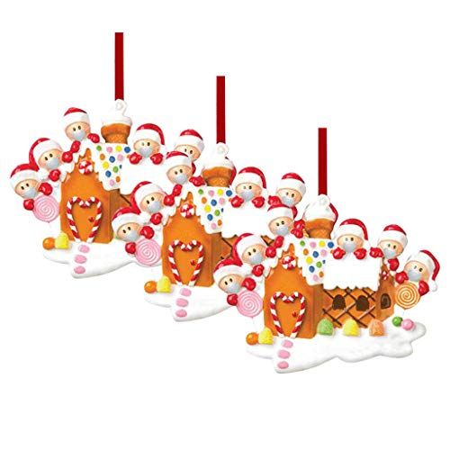Awolf 2020 Christmas Ornaments Souvenir, Christmas Ornament Holiday Decoration, Plastic Hanging Crafts for Christmas Tree (3pcs)