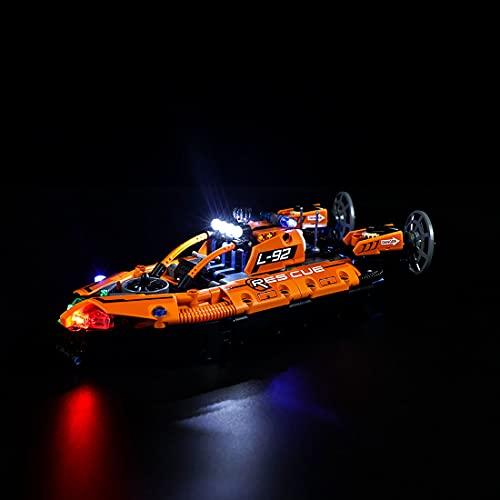 SESAY Juego de iluminación para barcos de rescate Lego Technic 2 en 1, juego de iluminación LED compatible con Lego 42120 (sin set Lego).