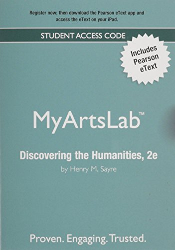NEW MyLab Arts with Pearson eText -- ValuePack Access Card -- for Discovering the Humanities