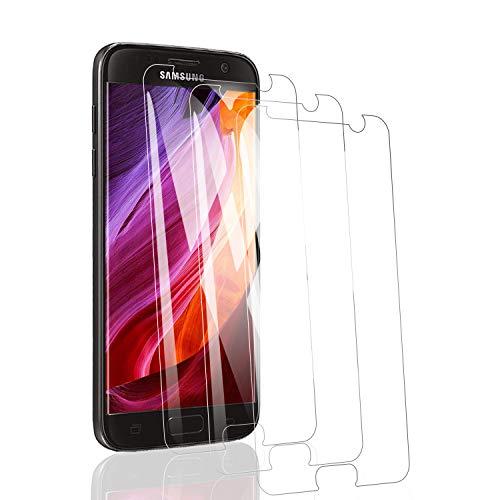 RSSYTZ [3 Pack Protector de Pantalla para Samsung S7 Cristal Templado, [9H Dureza] [Resistente a Arañazos] [Admite la función de Huella Digital] Vidrio Templado Screen Protector