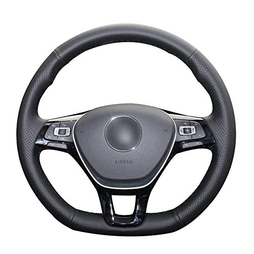 TPHJRM Fundas para Volante de Coche, aptas para Volkswagen VW Golf 7 (VII) Golf Sportsvan (SV) Polo