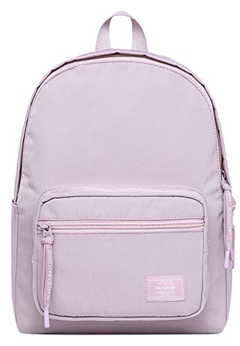 HotStyle MOREPURE 225s Small Backpack for Women & Girls, Plain Bookbag Purse Cute for Work Travel Everyday, Lavender