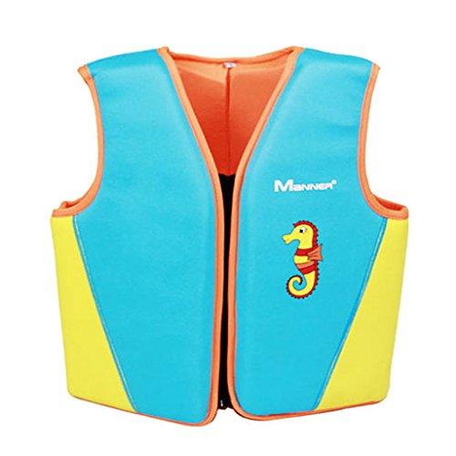 Hony Jungen Mädchen Bademode - Schwimmweste Badeanzug Aufblasbar Kinder Schwimmweste Schwimmjacke Kinder Schwimmtraining Aids um Schwimmen zu Lernen Größe S M L