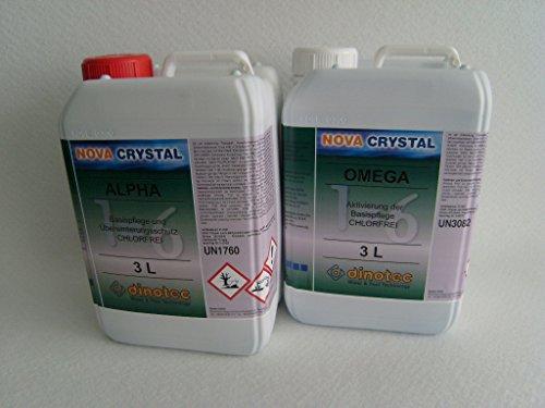 dinotec Nova Crystal chlorfreie Wasserpflege Alpha und Omega, als Set, je 3,0 l (Preis je l / 29,83 EUR)