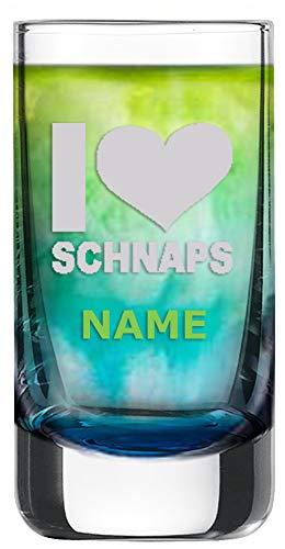 Schott Zwiesel Schnapsglas [Paris] mit individueller Gravur [Name] und [Motiv - I Love Schaps] - MeinGlas