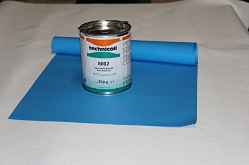Jeha Pool Reparaturset mit Kleber 750 gr. technicoll Folien Reparaturset Poolflicken + Kleber Schwimmbad Verschiedene Größen (105 x 140 cm)