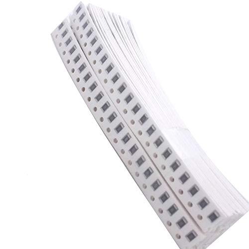 McIgIcM 1206 SMD Resistor Kit,1206 SMD chip Fixed Resistor Kit 1% 1/4W 0.25W (1 ohm~10 Mohm) 36 Value 20pcs =720pcs Chip Resistor Assorted Samples kit