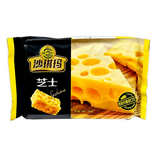 XuFuJi Cookie 徐福记 沙琪玛 芝士味 Artificial Shaqima Cheese Flavor 220g (pack of 2)