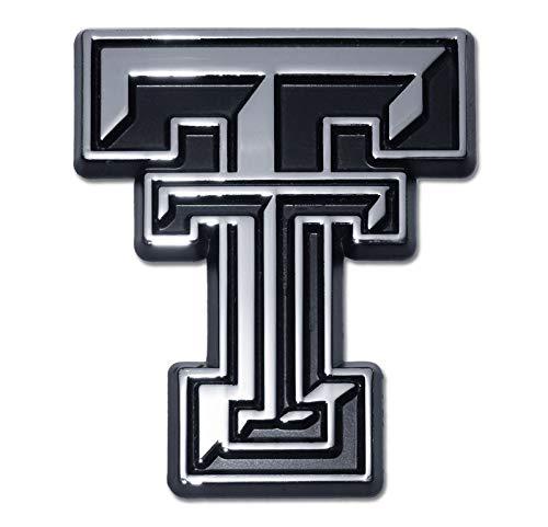 Texas Tech University Red Raiders Premium Metal Auto Emblem (Chrome)
