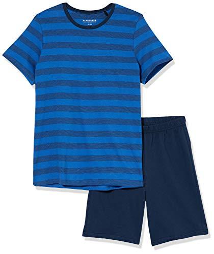 Schiesser Jungen Anzug Kurz Zweiteiliger Schlafanzug, Blau (royal 819), (Herstellergröße:164)